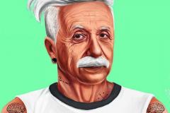 Albert Einstein by Amit Shimoni.