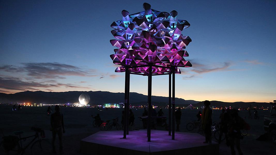 Big Pollinator Burning Man, 2018 - Photo by Jakob Bokulich