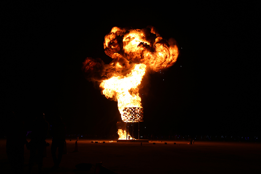Big Pollinator Burning Man, 2018 - Photo by Josh Keppel