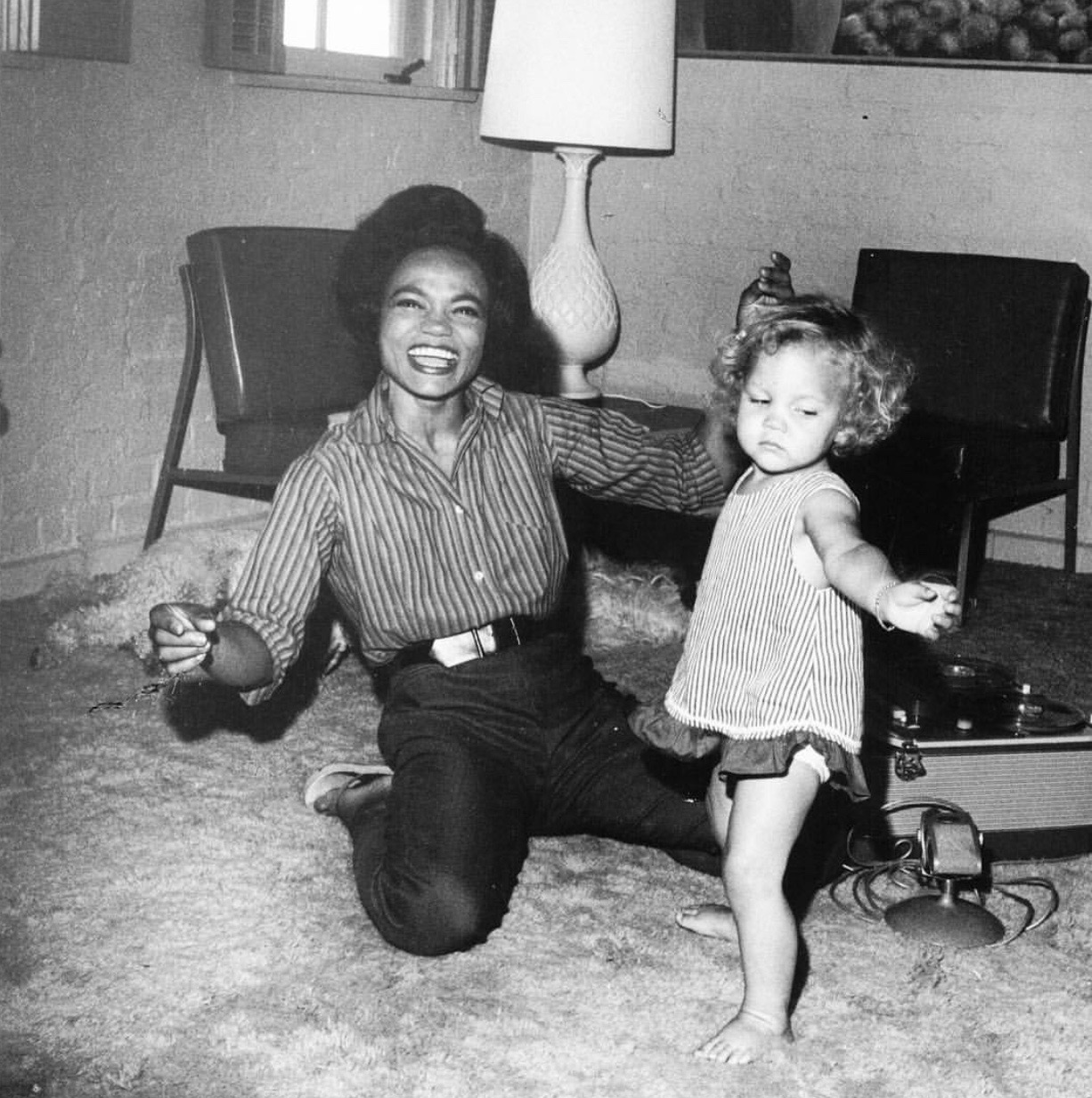 Eartha Kitt and her daughter Kitt Shapiro | Photo courtesy of Kitt Shapiro