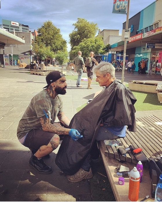 "Photo courtesy of Nasir Sobhani ""The Streets Barber."""